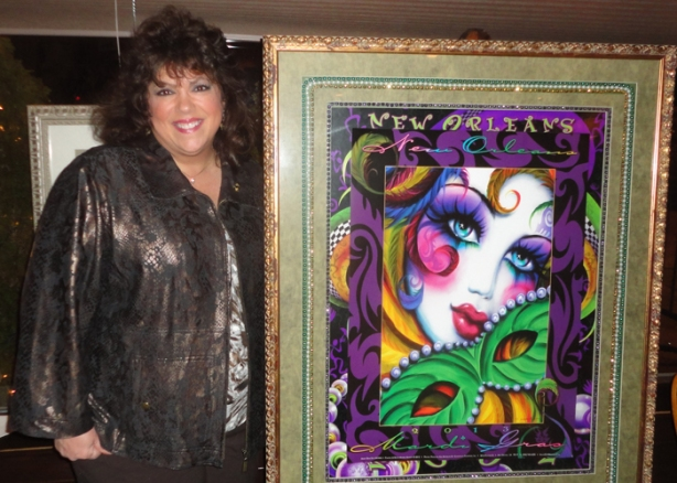 ADCNJ member Andrea Mistretta donated some of her Internationally recognized Mardi Gras posters as door prizes.