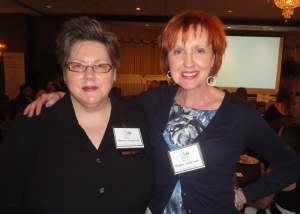 Sherry Fitzgerald, current ADCNJ President and Past President Denise Anderson share a photo op.