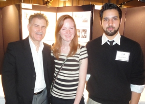 Professor Steve Longo with scholarship winners Karly Elizabeth and Andrew Sperber.